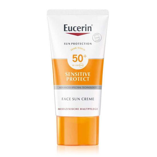 Eucerin Sun Sensitive Protect krema za zaščito obraza pred soncem ZF 50+, 50 mL