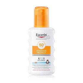 Slika Eucerin Sun Sensitive Protect Kids sprej za zaščito otroške kože pred soncem ZF 50+, 200 mL
