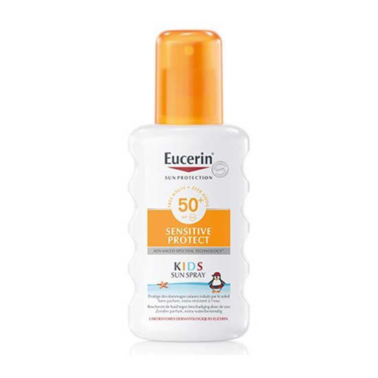 Eucerin Sun Sensitive Protect Kids sprej za zaščito otroške kože pred soncem ZF 50+, 200 mL