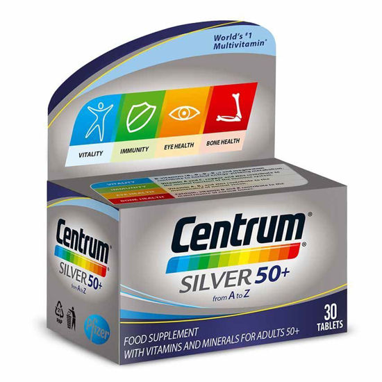 Centrum Silver za odrasle 50+, 30 tablet