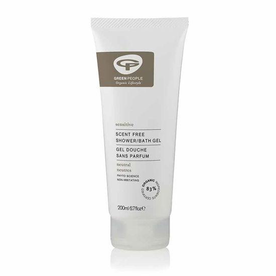 Green People blag gel za tuširanje brez vonja in za občutljivo kožo, 200 mL
