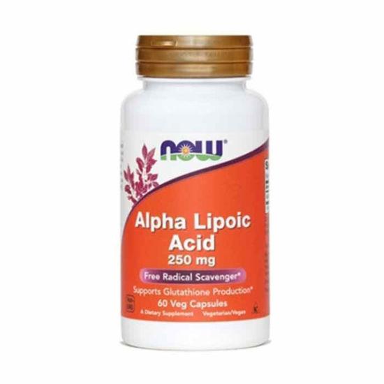 Now Alfa lipoična kislina 250 mg, 60 kapsul