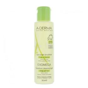 Slika A-Derma Exomega 2in1 emolientni gel za čiščenje za dojenčke in otroke, 200 ali 500 mL