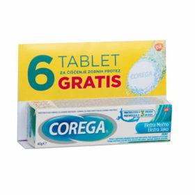 Slika Corega Extra Strong Meta lepilo za proteze, 40 mL + GRATIS zobna pasta