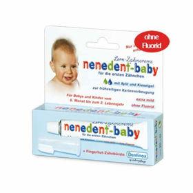 Slika Nenendent otroška zobna pasta (brez fluorida) z masažno zobno ščetko, 15 mL