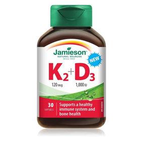Slika Jamieson vitamin K2 120 mcg +D3, 30 mehkih kapsul
