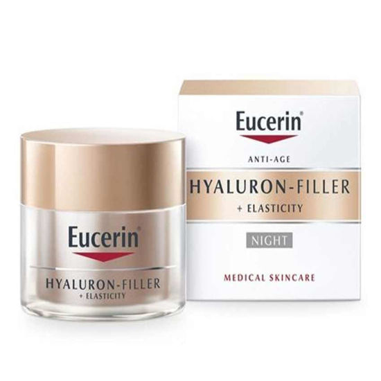 Eucerin Hyaluron Filler + Elasticity nočna krema, 50 mL