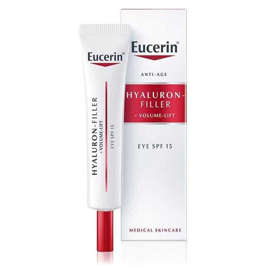 Eucerin Hyaluron-Filler + Volume-Lift krema za okrog oči z ZF 15, 15 mL