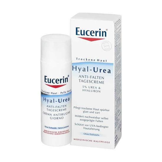 Eucerin Hyal-Urea dnevna krema za suho kožo proti gubam, 50 mL