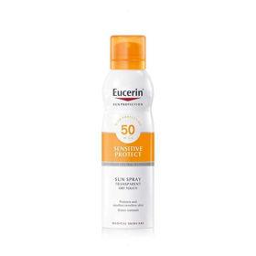 Slika Eucerin Sun Dry Touch prozoren sprej za zaščito pred soncem ZF50+, 200 mL
