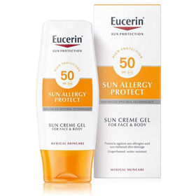 Slika Eucerin Sun Allergy Protect kremni gel za kožo nagnjeno k alergijam ZF 50, 150 mL