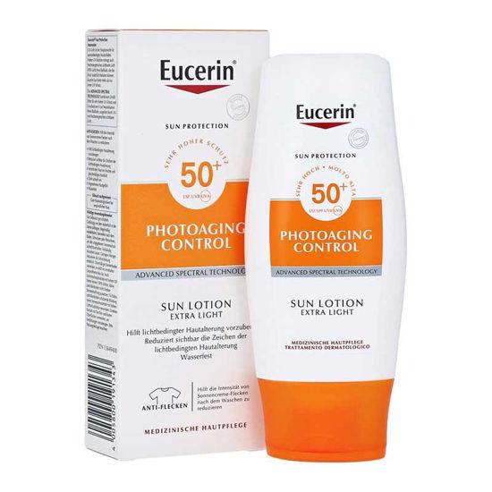 Eucerin Sun Photoaging Control ekstra lahek losjon za zaščito suhe kože pred soncem ZF50+, 150 mL