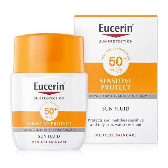 Eucerin Sun matirni fluid za zaščito obraza pred soncem ZF 50+, 50 mL