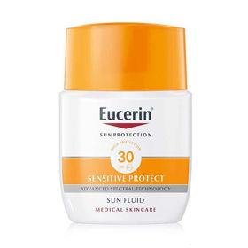 Slika Eucerin Sun Sensitive Protect matirni fluid za zaščito obraza pred soncem ZF 30, 50 mL