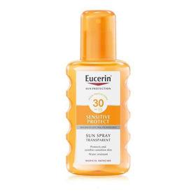 Slika Eucerin Sensitive Protect Sun prozoren sprej za zaščito pred soncem ZF 30, 200 mL