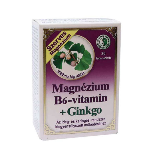 Magnezij + B6 + ginkgo, 30 tablet