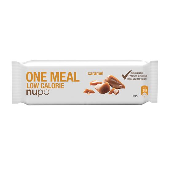 Nupo nadomestilo za posamezni obrok hrane (ploščica) z okusom karamele, 60 g