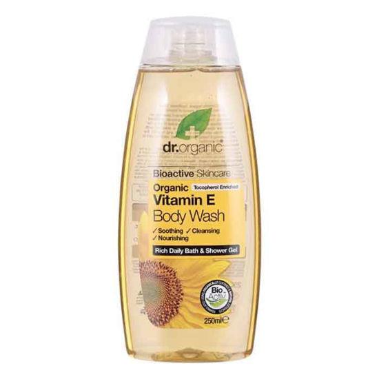Dr.organic gel za tuširanje vitamin E, 250 mL