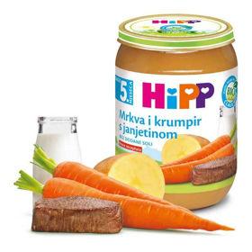 Slika Hipp korenje in krompir z jagnjetino, 190 g