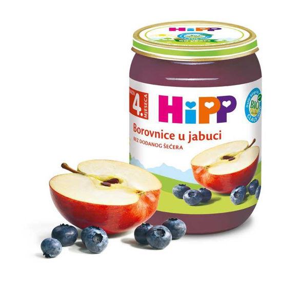 Hipp kašica jabolka in borovnice, 190 g