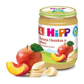 Slika Hipp kašica jabolka, banane in breskve, 190 g