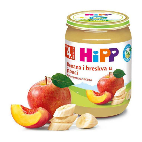 Hipp kašica jabolka, banane in breskve, 190 g