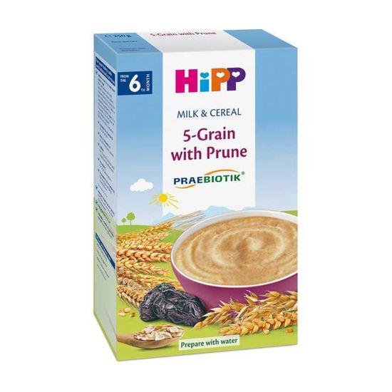 HiPP gotova mlečna kašica 5 ŽIT s slivo, 250 g