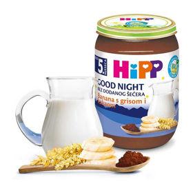 Slika HiPP kašica za lahko noč banana z zdrobom in kakavom, 190 g