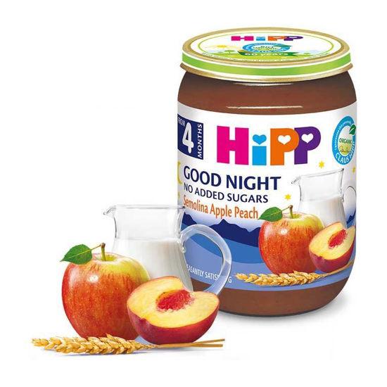 Hipp jabolka, breskve in zdrob, 190 g
