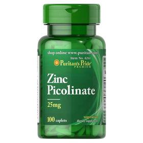 Slika Puritan's Pride Cinkov pikolinat 25 mg, 100 tablet