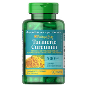 Slika Puritan's Pride Kurkuma turmeric 1000 mg, 90 kapsul