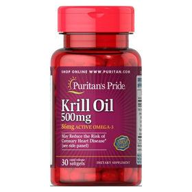 Slika Puritan's Pride Red Krill 500 mg olje, 30 mehkih kapsul