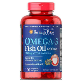 Slika Puritan's Pride Omega-3 1500 mg, 60 mehkih kapsul