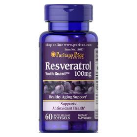 Slika Puritan's Pride Resveratrol 100 mg, 60 mehkih kapsul