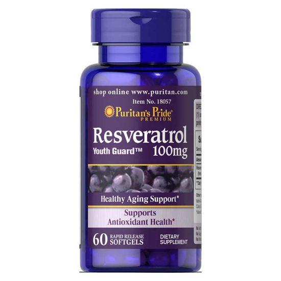 Puritan's Pride Resveratrol 100 mg, 60 mehkih kapsul