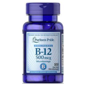 Slika Puritan's Pride B-12 vitamin 500 mcg, 100 podjezičnih pastil