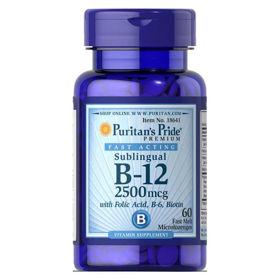Slika Puritan's Pride B-12 vitamin 2500 mcg, 60 mehkih kapsul