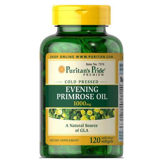 Puritan's Pride Svetlinovo olje - svetlin 1000 mg z GLA, 120 mehkih kapsul