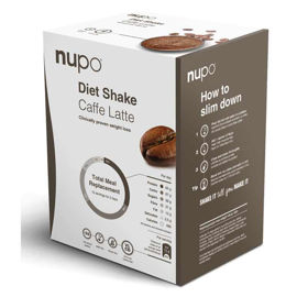 Slika Nupo klasični shake z okusom Caffe Latte - bela kava, 384 g