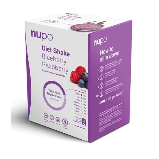 Nupo Dietni Shake borovnica in malina, 12 x 32 g