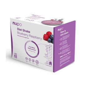 Slika Nupo Dietni Shake Value Pack z okusom malina in borovnica, 3x448 g