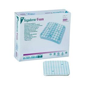 Slika Tegaderm Foam hidrokoloidna penasta obloga za traheostomo 8.8 cm x 8.8 cm, 10 oblog