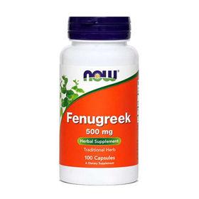 Slika Now Fenugreek sabljasti triplat 500 mg, 100 kapsul