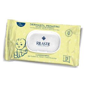 Slika Rilastil Dermastil Pediatric robčki za čiščenje in pomirjanje kože, 72 robčkov