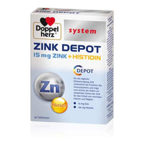 Slika DoppelHerz System Cink + Histidin - počasno sproščanje, 30 tablet