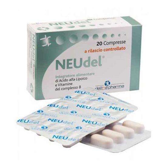 NEUdel alfa lipoična kislina in vitamini skupine B, 20 tablet