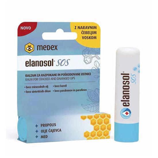 Elanosol SOS balzam za razpokane in poškodovane ustnice, 5.1 g