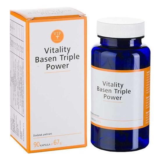 Vitality Basen Tripel Power za razkisanje, 90 kapsul