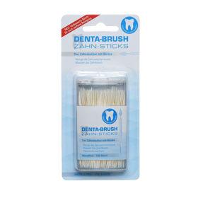 Slika Denta-Brush higienski zobotrebci s ščetko, 150 zobotrebcev