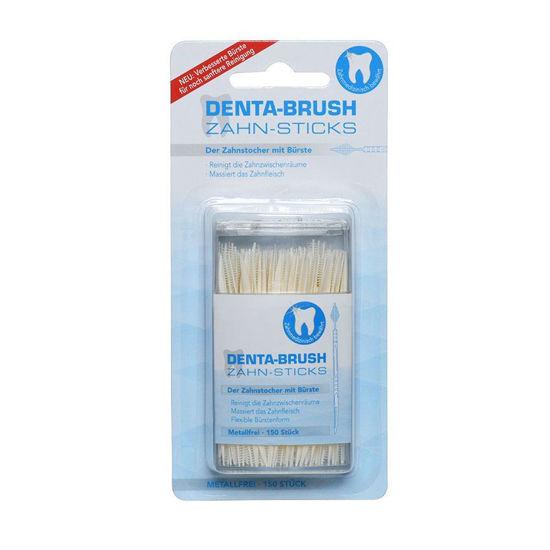 Denta-Brush higienski zobotrebci s ščetko, 150 zobotrebcev